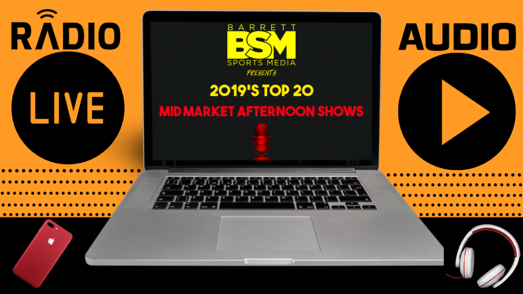 BSM's Top 20 Mid Market Local Sports Radio Afternoon Shows of 2019